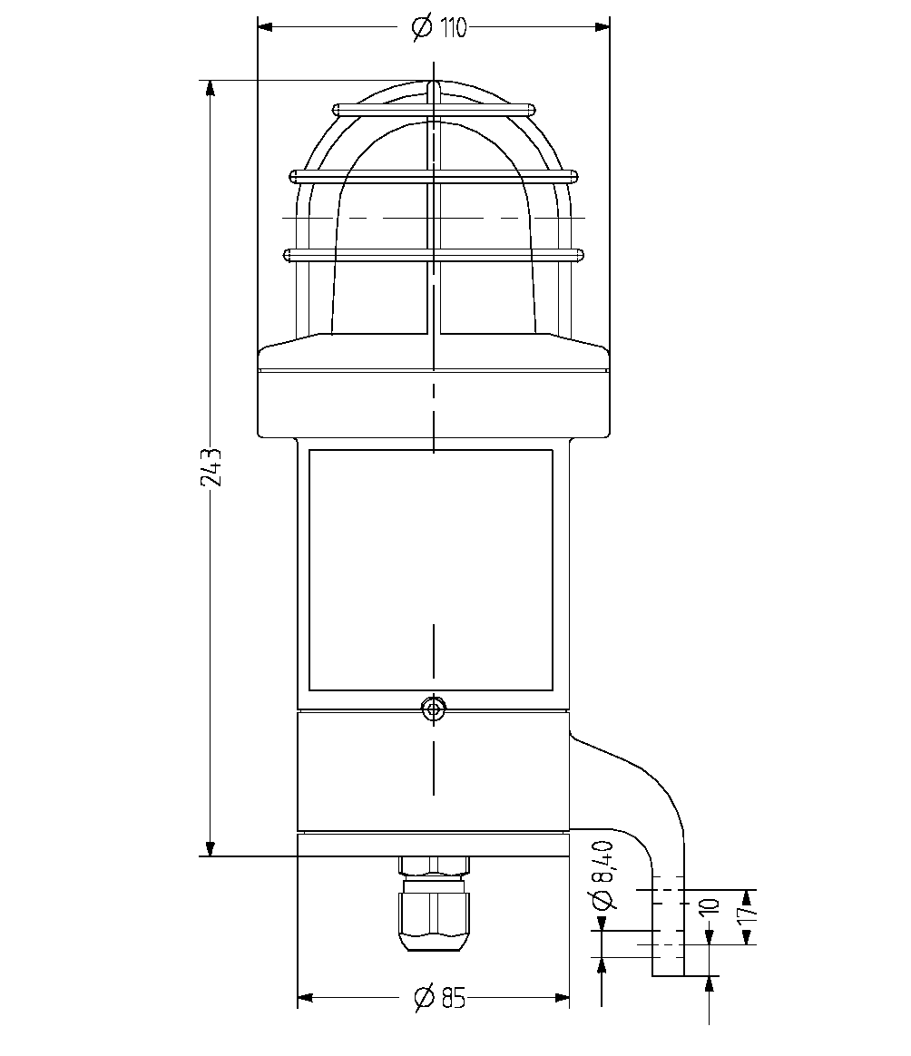 dSD взрывозащищенный светодиодный сигнальный маячок