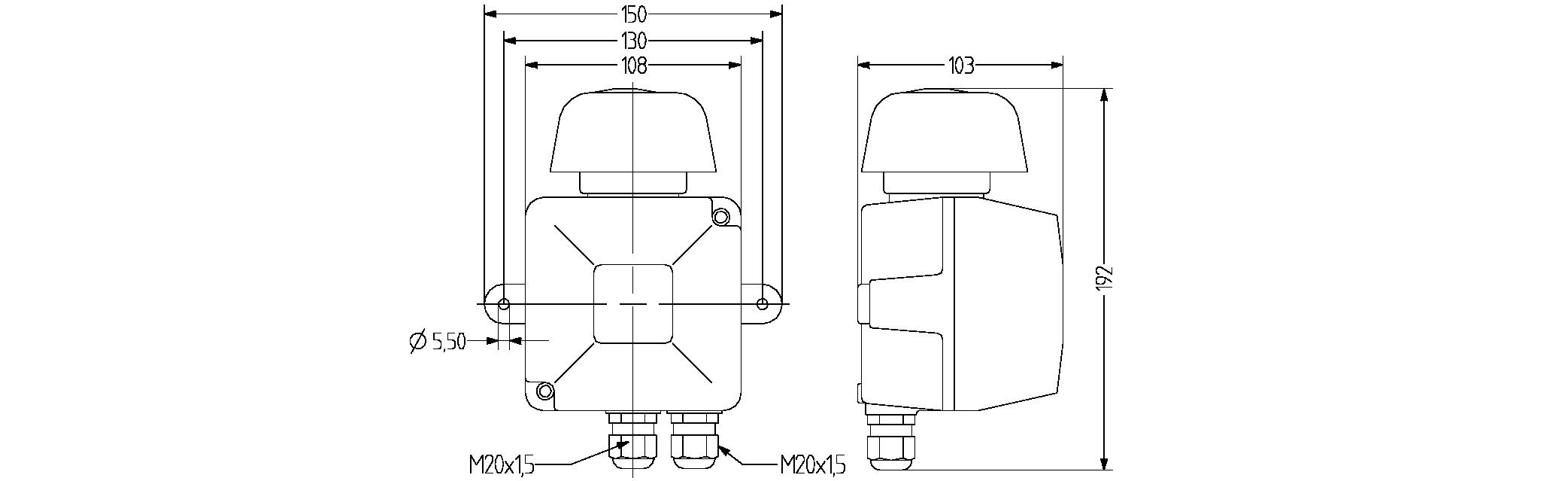 VS4 стробоскопический маячок – звуковой сигнализатор